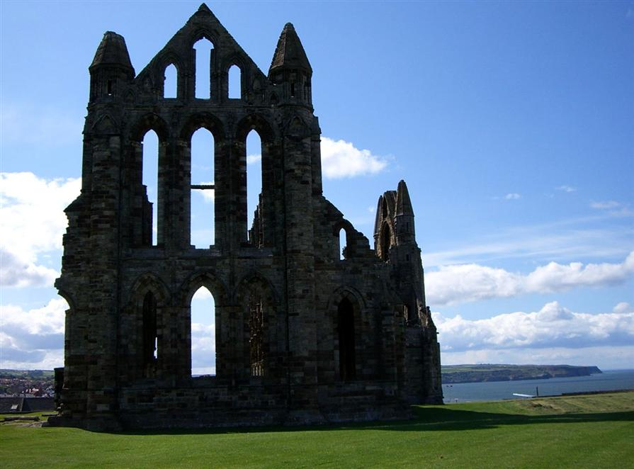 Whitby abbey and parish church
