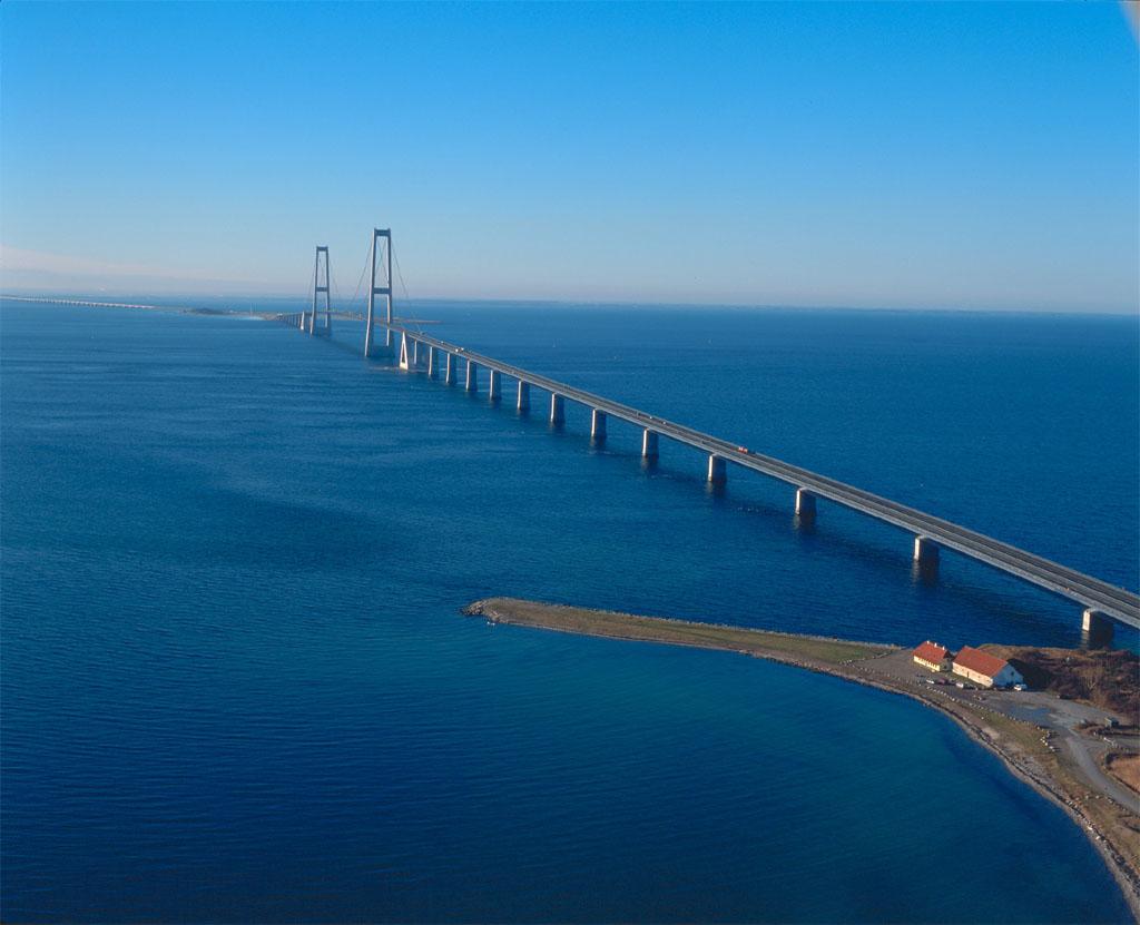 Oeresund Bridge between Sweden and Denmark